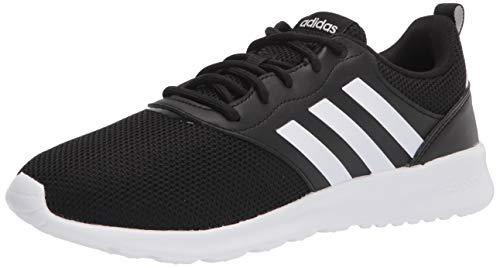 adidas Women's QT Racer 2.0 Running Shoe, Black/White/Grey, 5