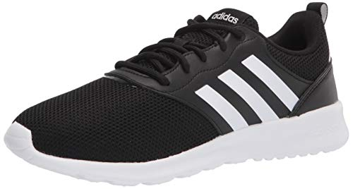 adidas, Mujer, QT Racer 2.0, Negro/Blanco/Gris, 5.5