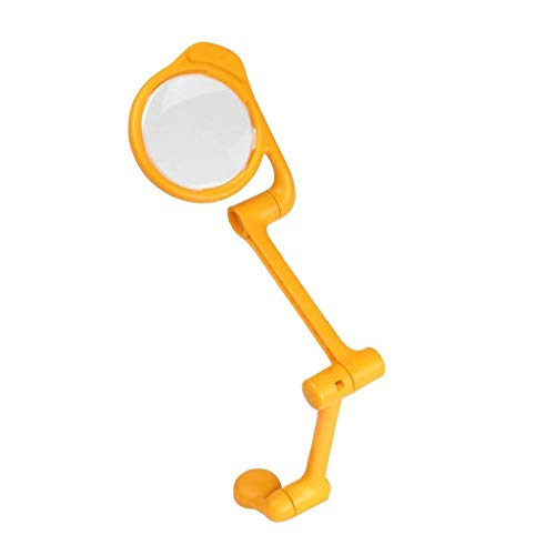 YUQIYU Glass with Light Portable Magnifier/Reading Glass, Portable Pocket, Hinged Arm, Freestanding/Hands Free 2X 4X 25x Lightweight Handheld Glass