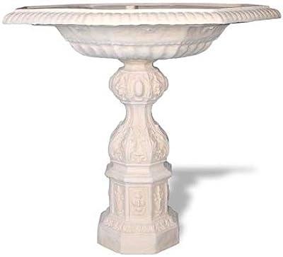 Amedeo Design ResinStone 1001-1T English Bird Bath, 42 by 42 by 42-Inch, Terra Cotta