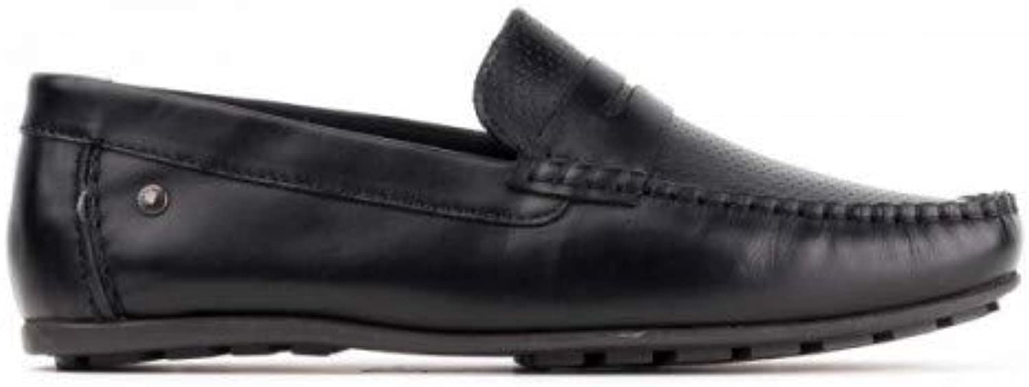 Base London Mens Attwood Waxy Leather Slip-on shoes