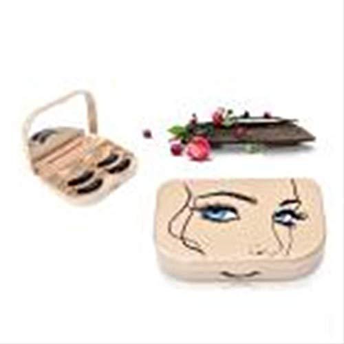 Mode Femmes Acrylique Mignon Noeud Faux Cils Rangement Boîte Maquillage Cosmétique Miroir Étui Organisateur Outils #0321 Ba