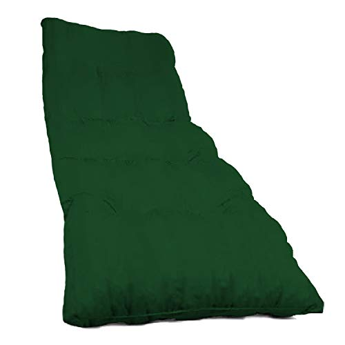 Dabuty Online, S.L. Pack de 2 Cojines de Tumbona Acolchada de Rayas 180 x 55 X 5 cm Colchón Texturas Rojo, Verde, Amarillo, Azul. Colchoneta Tumbona (Liso Verde)