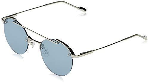 Calvin Klein EYEWEAR CK20133S-045 Gafas, Shiny Silver/Solid Seafoam Mirror, 50-21-140 Unisex Adulto