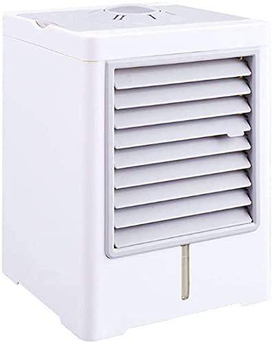 Ventilador de aire acondicionado portátil Lindo portátil Mini refrigerador de aire, 3 en 1 Ventilador de aire acondicionado evaporativo de 3 en 1 Ventilador de escritorio portátil Mini refrigerador Mi