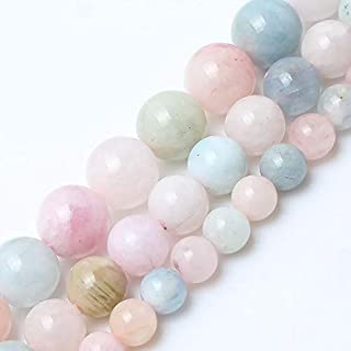 CHENTAOCS Natural morganite Stone Round Loose Beads for Jewelry Making 15inches/Strand 6/8/10mm Beads Making Bracelet DIY Jewelry (Item Diameter : 12mm 30pcs Beads)