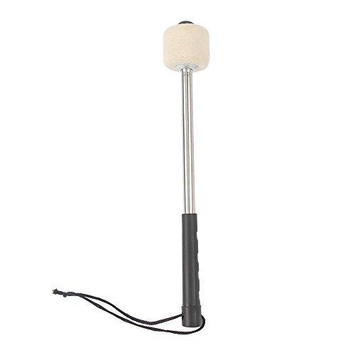 ammoon Alta Calidad Bombo Caja Grosse Trommel Palillo de Tambor Textura de Lana Manija de Aleación de Aluminio Parte de Accesorios de Instrumentos