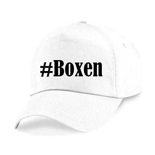 Base Cap Hashtag #Boxen Baseball Cap Basecap Hashtag ruit voor dames heren en kinderen in de trendy kleuren zwart en wit Hip Hop Streetwear Baseball-pet met het grote scherm
