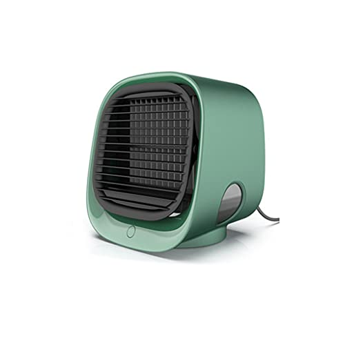 Portable air Conditioner fan Personal Mini Evaporative air Cooler with 3 Speeds 7 Colors Night Light,Quiet Air Cooler fan,300ml Capacity Water Tank Design,usb Plug Mouth,for Home Office Bedroom