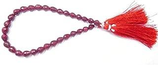 GemAbyss Beads Gemstone Natural Gemstone Ruby Corundum 8 Inch Long Strand Faceted 6-7X7-8 Mm Tear Drop Bead Tear Drop Bead,Teardrop Beads,Drop Beads,Faceted Beads Code-MVG-44140