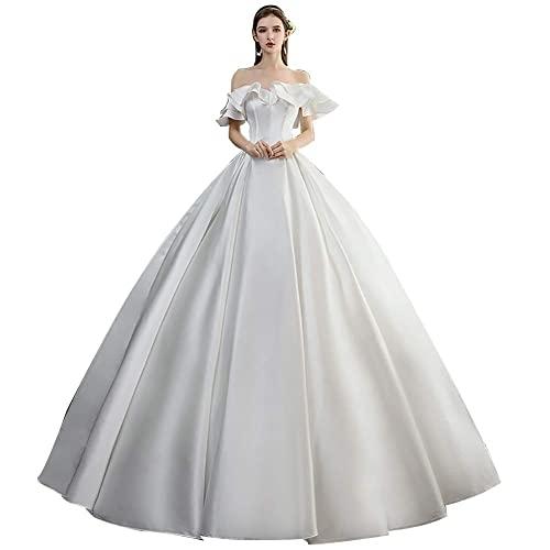 Vestidos de Novia para Mujer Vestidos de Fiesta sin Espalda Vestido de...