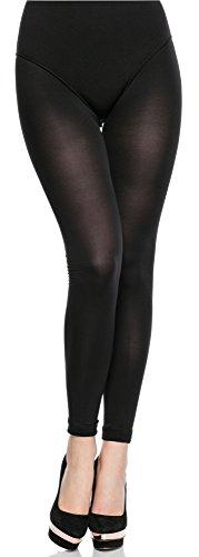 Merry Style Medias Microfibra Leggins Tallas Grandes Plus Size Mujer MS 163 60 DEN (Negro, XL-XXL)