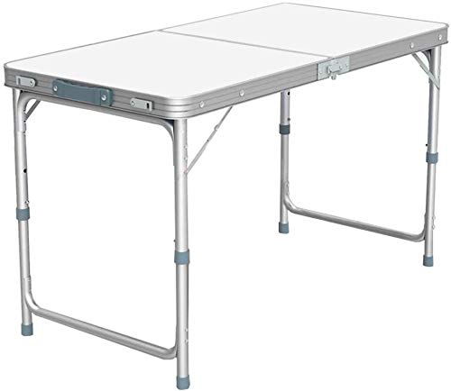PJD 120 x 60cm 6FT Aluminium Portable Trestle Camping Picnic Dining Folding Table Outdoor