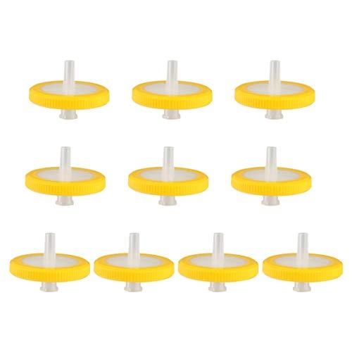 UKCOCO Filtro de Aguja de Jeringa - Filtros Desechables Filtro de Jeringa Filtro de Inyector para Laboratorio Científico Empaquetado Individualmente 10 Piezas