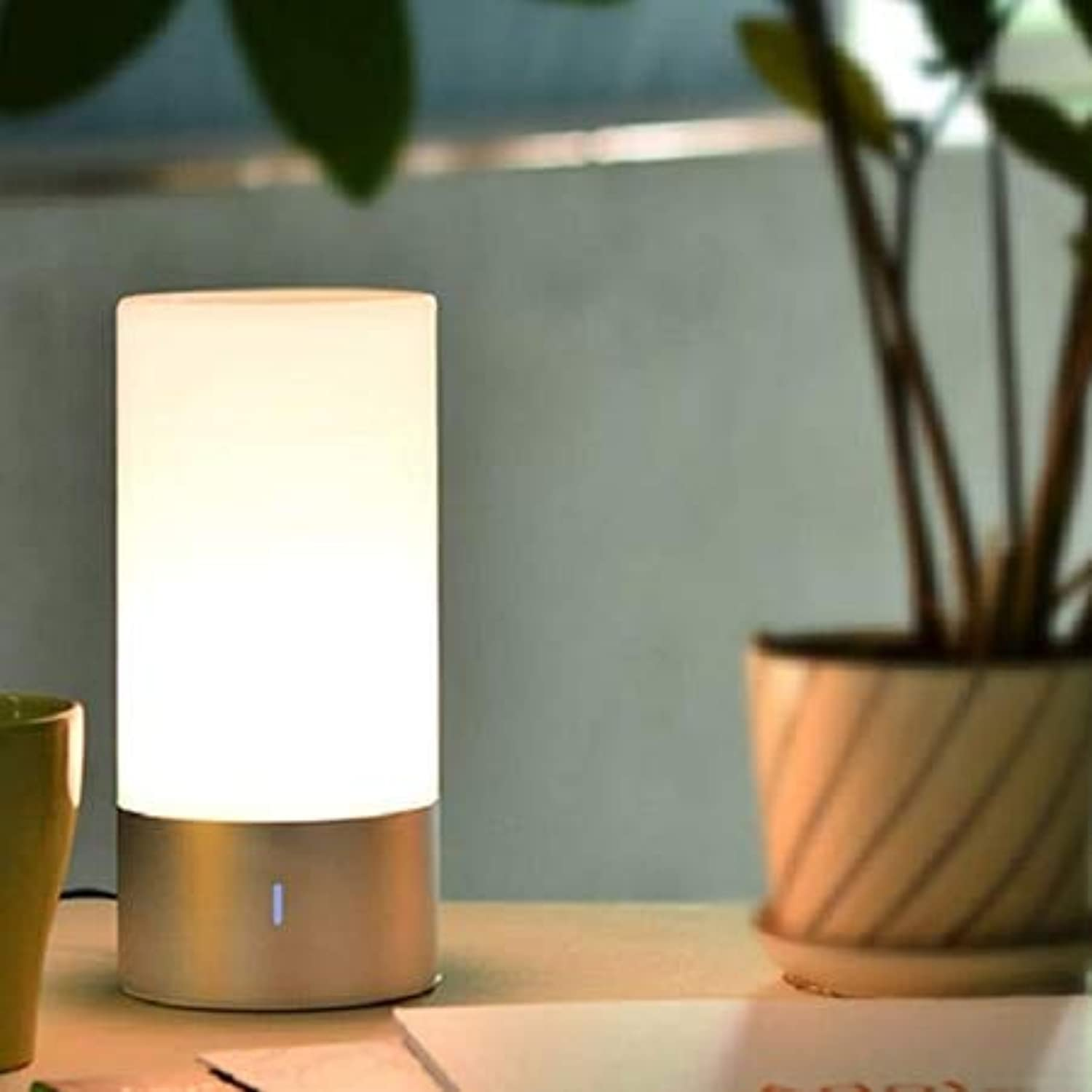 LIULINUIJ Dimmable Blautooth Speaker Bedside Lamp 16 Million Farbe   360-Degree Touch Sensing Smart Night Lights For Bedroom