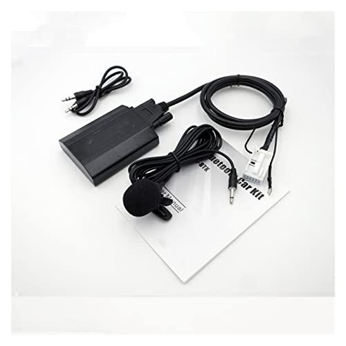 JINJUANYAO Yatour kit de audio de coche Bluetooth apto para VW Fit para Passat Fit para Tiguan Fit para Audi A3 A4 Fit para Skoda Fit para Seat Altea Digital CD Changer AUX adaptador YTBTK
