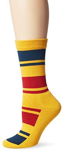 Pendleton Women's National Park Cotton Crew Socks, Yellow, Sock Size:10-13/Shoe Size: 6-12(6-10)