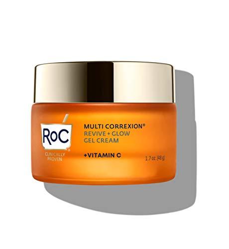 RoC Multi Correxion Revive + Glow Vitamin C Moisturizer for Face, Gel Cream, 1.7 Ounce