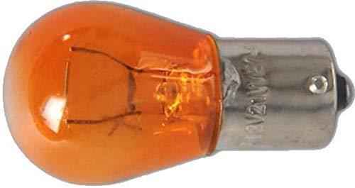 Lot de 10 ampoules de voiture 12 V 21 W BA15s orange