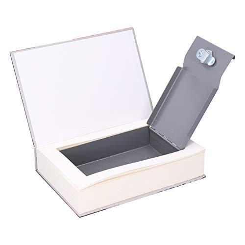 Libro de simulación Caja de bloqueo de seguridad Moneda en efectivo Almacenamiento de dinero Caja segura con llaves para dinero en efectivo Almacenamiento de joyas Espacio de almacenamiento Depósito d