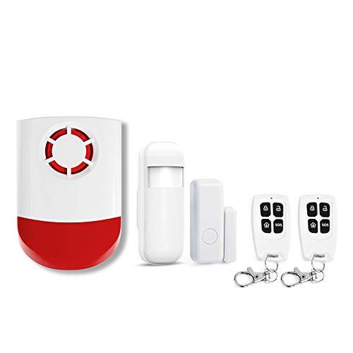 intérieur/extérieur sirène alarme Ensemble Avec détecteur de mouvement de la Porte du capteur télécommandes Sur Place sirène Stroboscope système de sécurité à Domicile