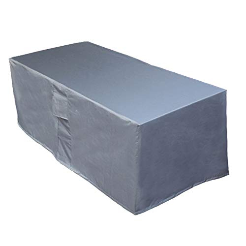 Garden Furniture Covers, Patio Furniture Covers - 600D Waterproof Windproof Anti-UV Garden Table Cover for Table and Chairs, Grey 170x95x70cm
