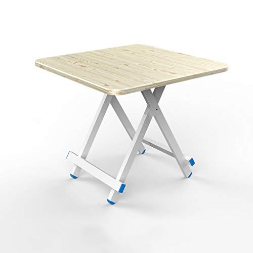 GXCBHIUBUI GXC klaptafel, hoogwaardig, vierkant, tafel, van aluminiumlegering, massief hout, tafelstatief en multifunctioneel
