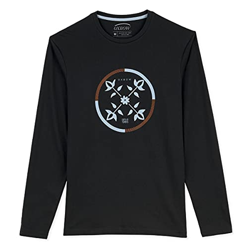 Oxbow N2TCHISTO Tee Shirt Manches Longues Graphique Homme Noir