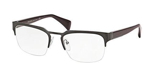 Prada Gafas anteojos PR 66QV L METAL SL31O1 marco negro de metal del tamaño de 54 mm de gafas de sol hombre