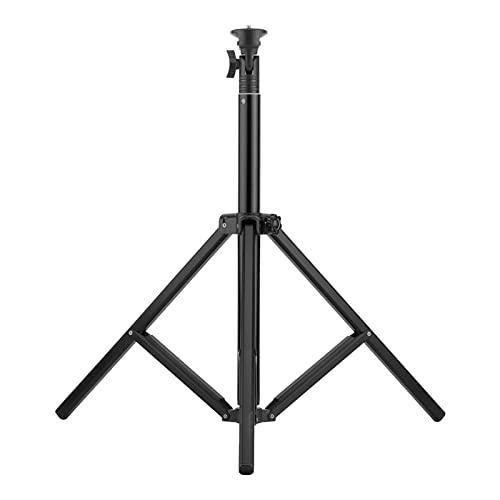 Jacksing Treppiede da Tavolo, treppiede per Selfie 5 sezioni Nero con Vite da 1/4 di Pollice per Fotocamere per DV per telefoni cellulari