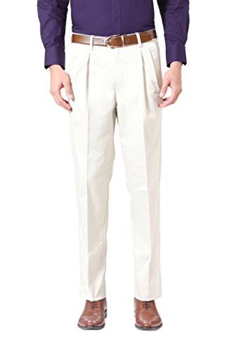 Peter England Cream Trousers