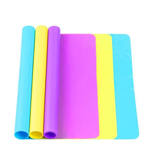 """3 Pack Large Silicone Sheets for Crafts, Liquid, Resin Jewelry Casting Molds Mat, Multi-Purpose Food Grade Silicone Placemat. 15.7"""" x 11.8"""""""