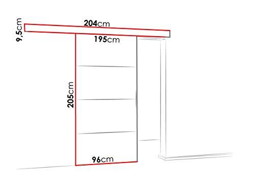 Mirjan24 Schiebetürsystem Multi Plus Komplett-Set für Schiebetüren Trennwände, Innentüren (Weiß, Modell 90, mit Selbstschließer) - 4