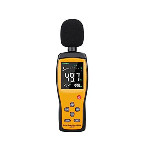 YUTRD ZCJUX Medidor de Nivel de Ruido de Sonido Digital, probador de Audio de decibelios, Pantalla LCD a Color de 30~130 dBA, medidor de db de micrófono automotriz