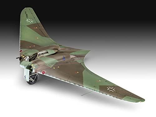 Revell 03859 Horton Go229 A-1 Flying Wing originalgetreuer Modellbausatz für Fortgeschrittene, unlackiert