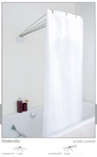 Duschspinne schwenkbare 8 Arme Duschkabine Ombrella Chrom 180 Grad Drehbar