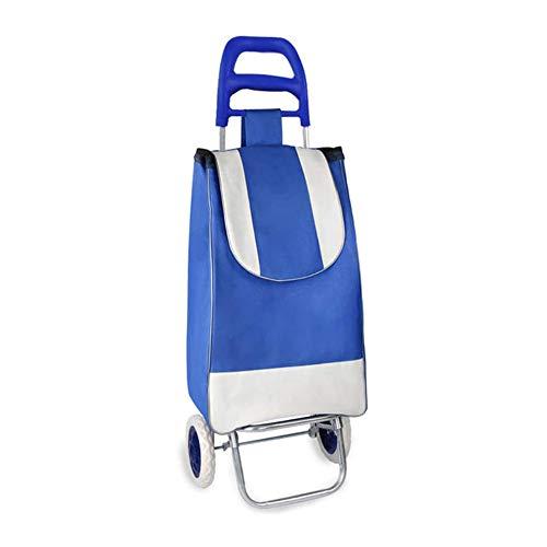 JUANstore Laptopwagen A Double Stroller Räder Mit Leiter Klettern Und Funktion Impermeabileadatto Den Einkaufs Spending,Blue Blue Handle