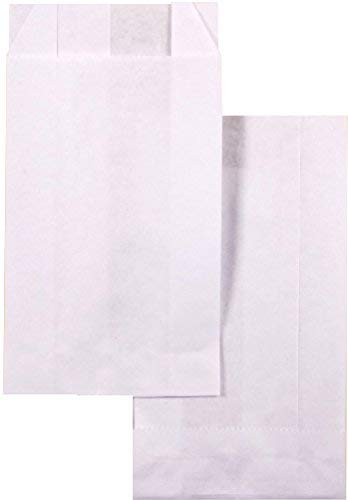 kgpack 100x Bolsas de papel kraft DIY 8 x 15 cm | Bolsas de papel Kraft para niños | calendario de adviento | Bolsa de regalo de fondo plano | Bolsa de papel de alimentos