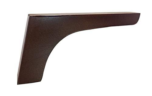 Pack de 4 patas de madera para muebles,12cmts de altura para renovar o elevar muebles, armarios, mesas, sofas con estos pies o piernas (Nogal)