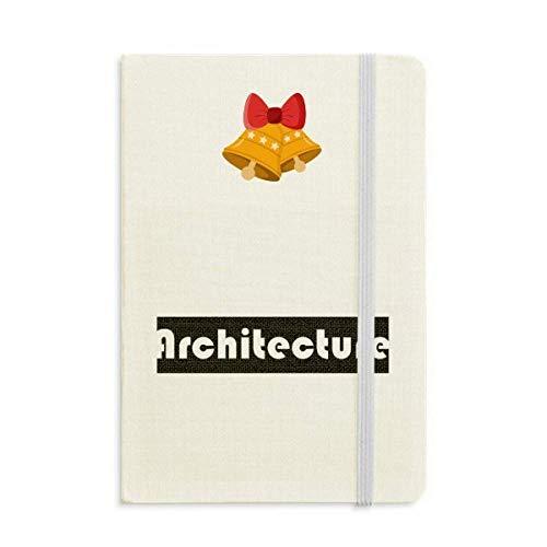 Corso E Major Architettura Nero Notebook Journal mas Jingling Bell