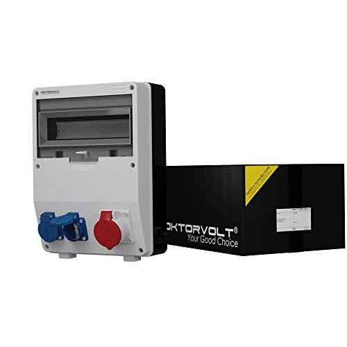 Baustromverteiler TD 1x16A 2x230V Mennekes Dosen Stromverteiler Wandverteiler Steckdosenverteiler Doktorvolt 6763