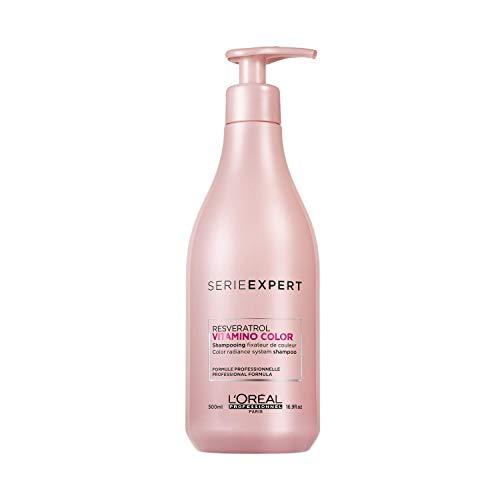 L Oréal Professionnel Paris Serie Expert Vitamino Color Shampoo professionale per capelli colorati, protezione del colore fino a 8 settimane, luminosità istantanea, con anti-ossidanti - 500ml