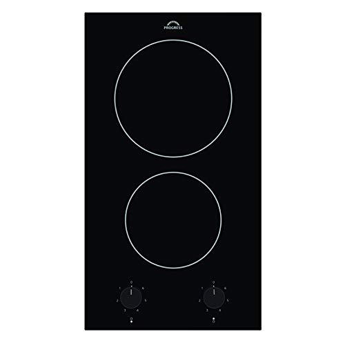 Progress PAS3100E Glaskeramik-Kochfeld 30 cm, 2 Kochzonen in schwarz