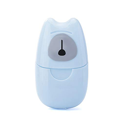 Wegwerp hand wassen zeep tabletten, met 1 doos van 50 stuks, Mini Portable Soap papier, geschikt voor Home And Outdoor Travel,Blue