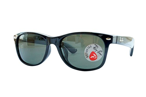 Ray-Ban New Wayfarer Classic RB 2132 Gafas de sol, Negro (Black With G/15 Lenses), 55.0 Unisex Adulto