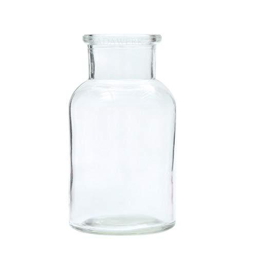 ZADAWERK® Mini-Vase - Glas - 12 Stück - Dekoration Hochzeit, Konfirmation