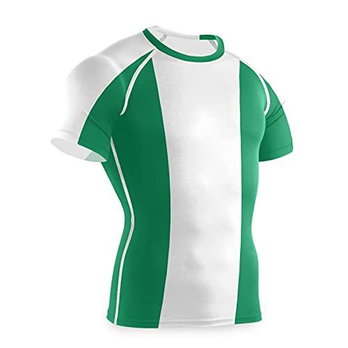 Magnesis Camiseta de compresión de manga corta para hombre de la bandera de Nigeria