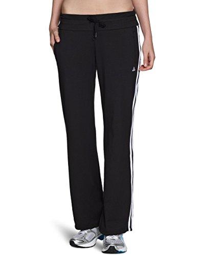 adidas Damen Trainingshose SE Essentials 3-Streifen, Schwarz/Weiß, M, ADIX21269_000