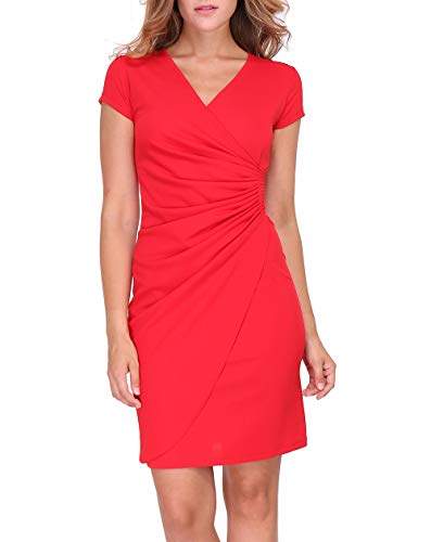 Revdelle - Robe Cache Coeur Col V Made in France Manches Longues pour Femme Camille