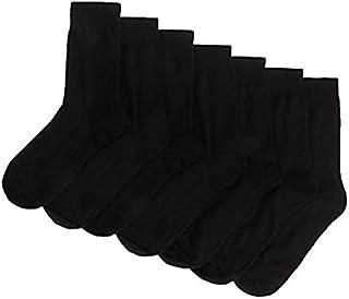 Pack 3/5/10 Pairs Mens Cotton Rich Socks Work Classic Black Mid Calf Long Sock